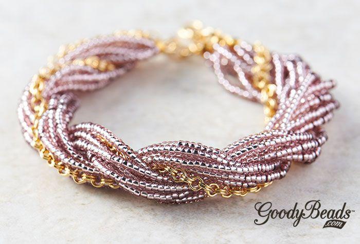GoodyBeads   Blog : Seed Bead Twist Silk Cord Bracelet