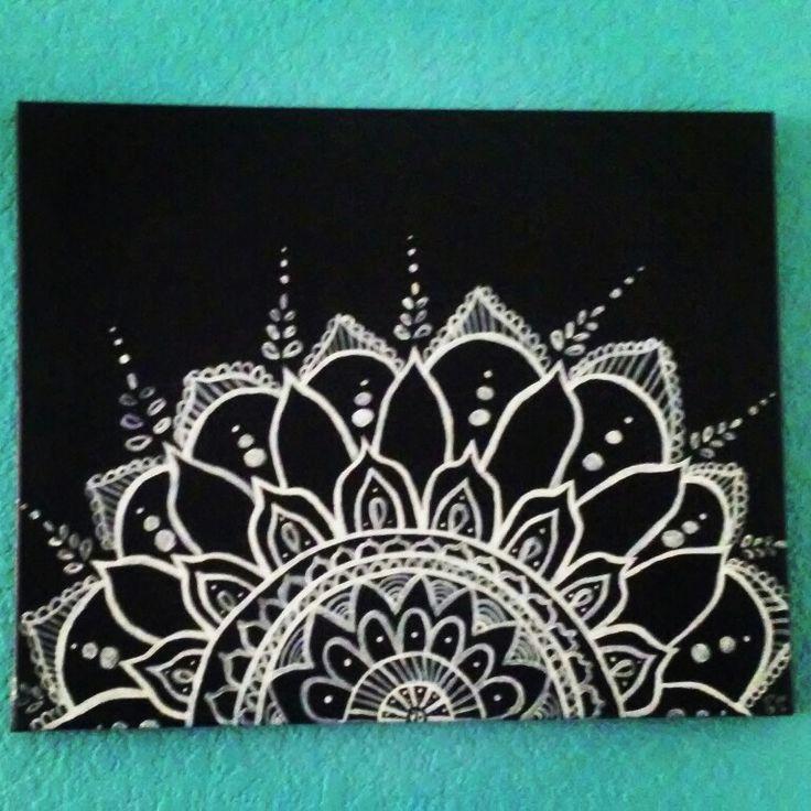 Handpainted mandala canvas art