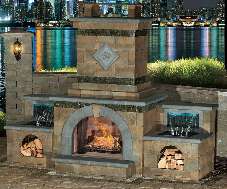 Best Cambridge Outdoor Fireplaces Images On Pinterest - Electric outdoor fireplace