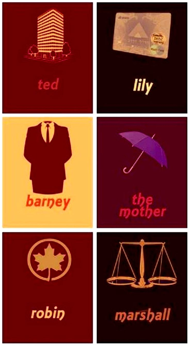 How I Met Your Mother Minimalist Character Posters