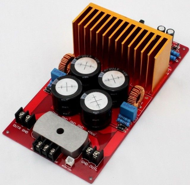 YJ IRS2092 IRFB4227 500W+500W 4ohm Class D Amplifier completed board