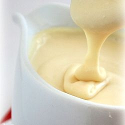 Homemade Condensed Milk 1 c sugar,1 c dry powdered milk/ 2 c instant dry powdered milk,1/2 c water,1 TBS real butter Put water & butter in a microwave dish & let it come to a boil in your microwave; about 45-60 seconds. Put sugar milk in a blender or magic bullet. Add the boiling water butter mixture. Blend until combined, scraping down the sides if needed.
