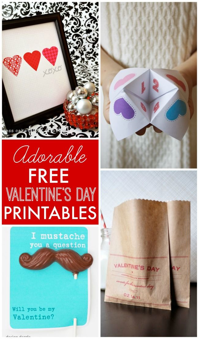 Adorable Free Valentine S Day Printables For Decorating Kids Gift Giving Crafts And