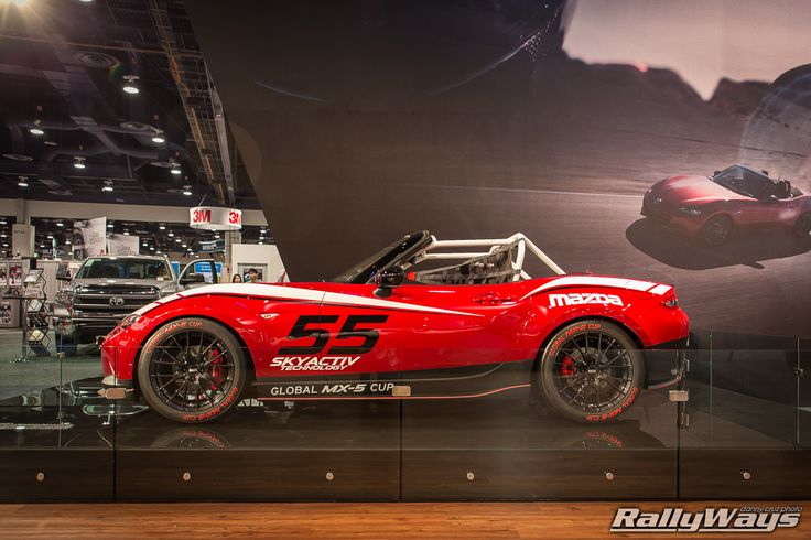 New 2016 Mazda Global MX-5 Cup Car - LIVE at SEMA 2014. #mx5 #topmiata #rallyways