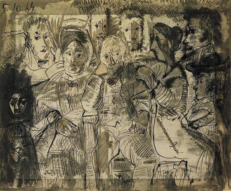 Pablo Picasso Tableau de Famille Year 1964