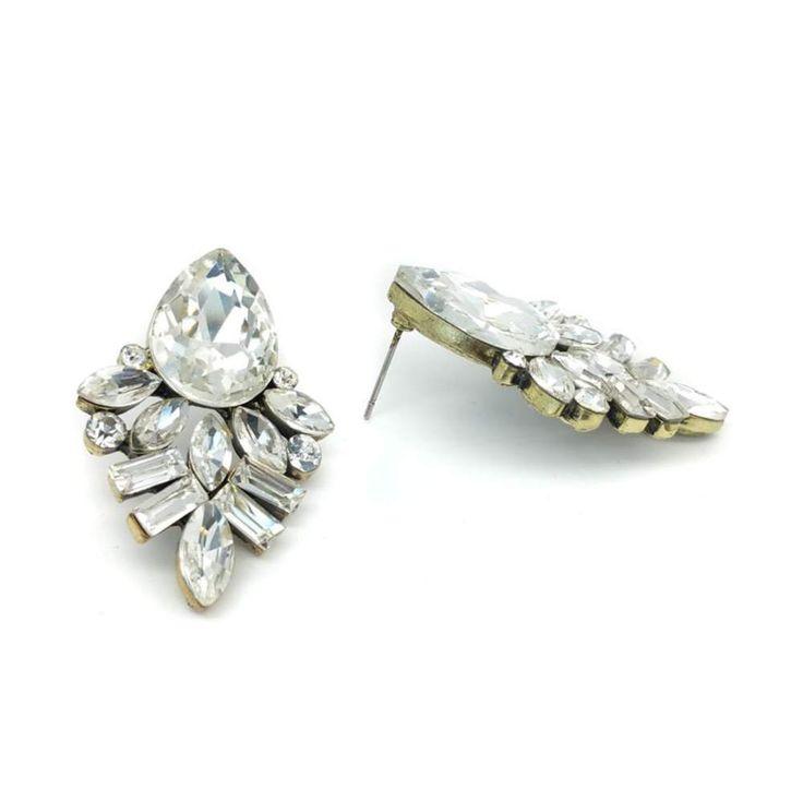 ieraden - Oorbellen - Bruid - Bruidsoorbellen - Oorbellen bruid - Bridal jewellery - Crystal earrings -  crystals - Zilveren oorbellen - Silver earring - Bohemian earrings - Oorbellen Bohemian - Oorbellen vintage - Oorbellen Ibiza