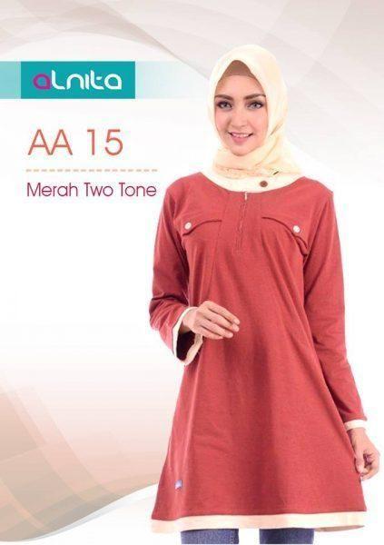 Beli Baju Atasan Wanita Tunik ALNITA AA-15 MERAH TWOTONE dari Aprilia Wati agenbajumuslim - Sidoarjo hanya di Bukalapak