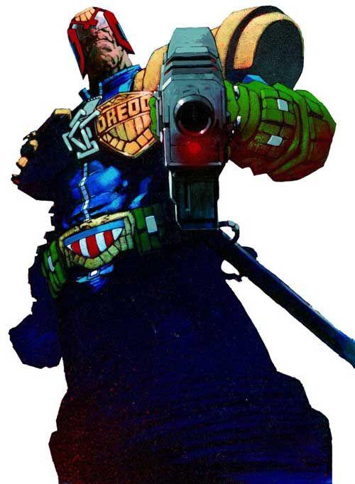 Judge Dredd from 2000ad drawn by Jock