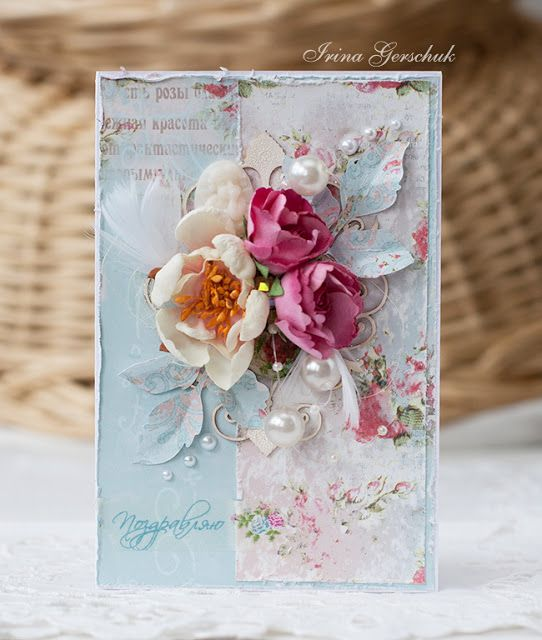 scrapbooking cards with roses