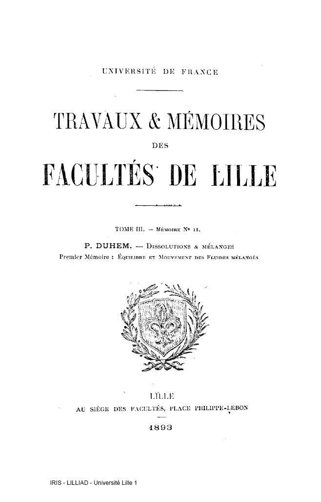 Centenaire de la mort de Pierre Duhem (ouvrages sur IRIS)