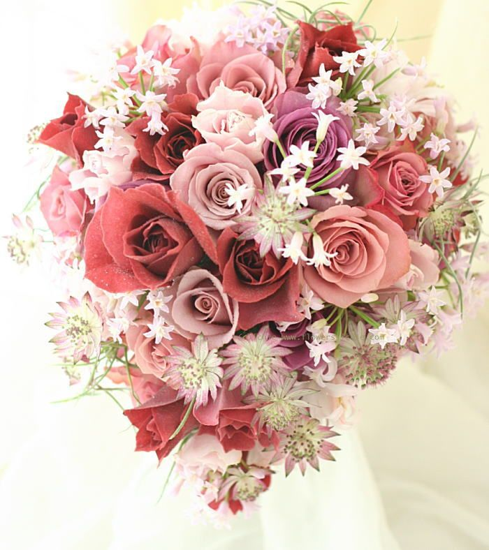 ブーケ ティアドロップ 晩秋の宵 : 一会 ウエディングの花