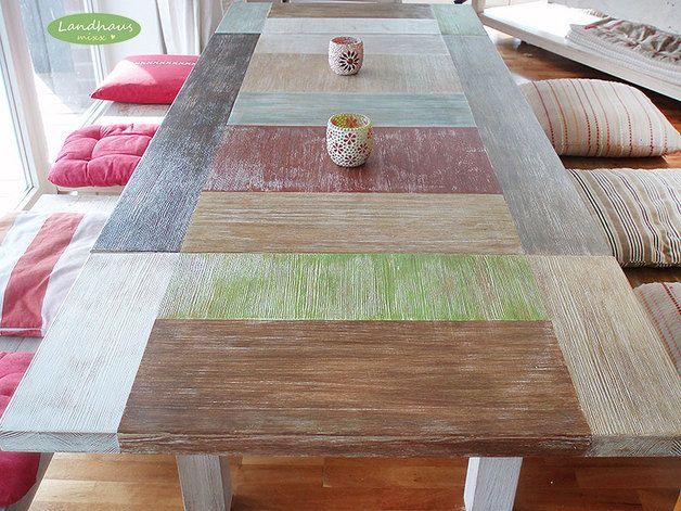 Tavoli da pranzo - ♥ Shabby SOGNO tavolo / table / unico ♥ - un prodotto unico di Landhausmixx su DaWanda