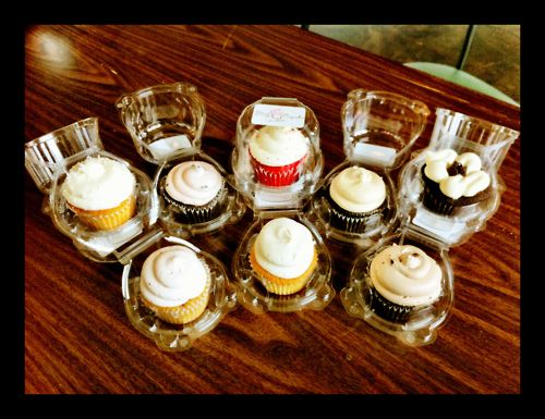 A bevvy of tasty cupcakes from the Flirty Cupcakes food truck.