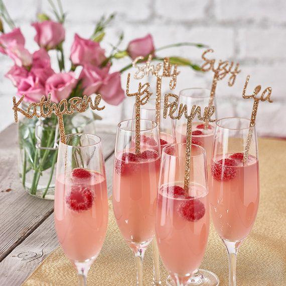 Bâton de Swizzle-verre personnalisé agitateur Cocktail bâtons-anniversaire parti Decor-mariage-Engagement parti-Wedding Table décoration