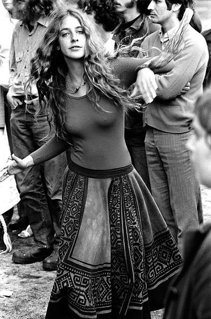 cambridge, massachusetts october 1970 young lady, dancing in cambridge common