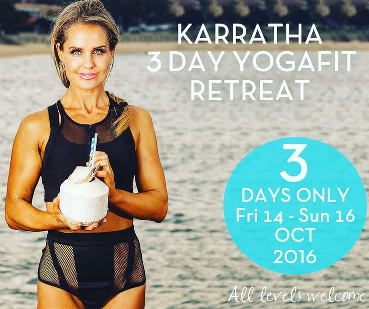 The 3-Day Yogafit Retreat in Karratha on 14-16th October. It will be a fun and exciting challenge to find our inner self confidence and attend a raw vegan tasting & wellness seminar.   Limited spaces. Click here to secure your booking. http://bit.ly/294VhtL   Be the best you and join me now!  Hurry! Register now!