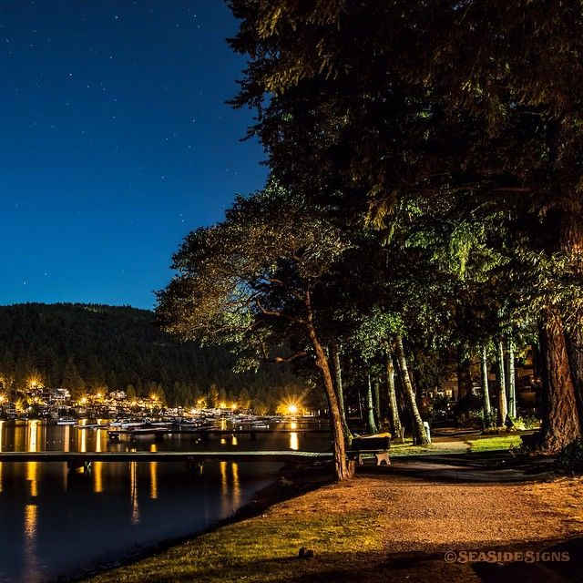 Late Night Lakeside. One hour east of Vancouver and just south of Chilliwack…