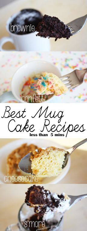 Top 10 Easy Mug Cake Recipes - dessert recipes takes less than