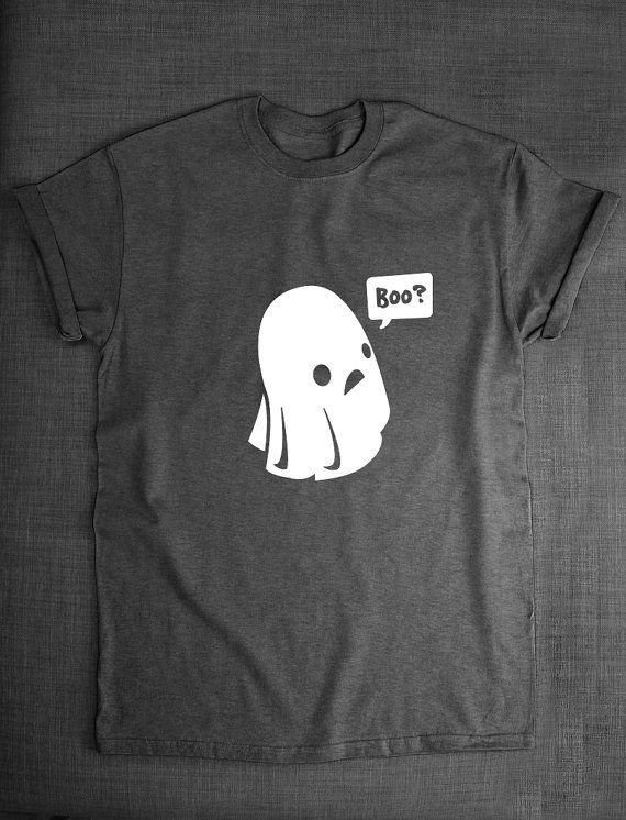 Cute Ghost Boo Halloween T-Shirt by ResilienceStreetwear on Etsy
