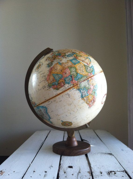 RESERVED Vintage world globe Replogle world globe by MellaFina