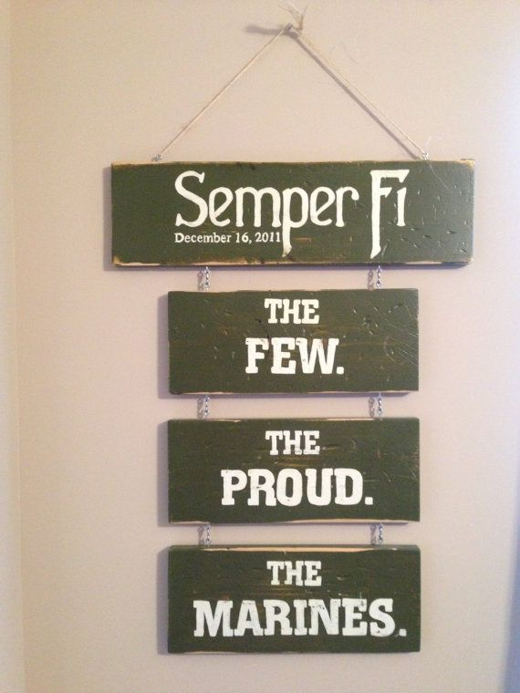 #USMC #military #veterans Marine Corps Sign by PaintingPersonal on Etsy, $65.00 - Post Jobs and Become a Sponsor at www.HireAVeteran.com