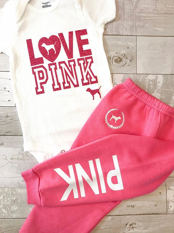 0554b033032d Toddler Baby Girls Love Pink Size 6-9 Months Fall Winter Sweatpants ...
