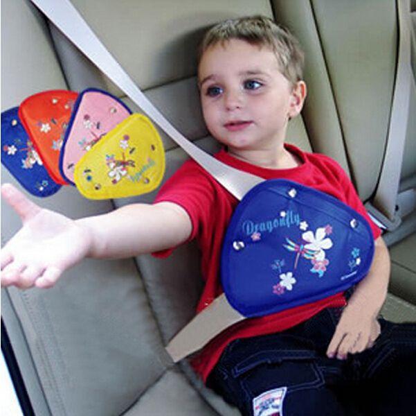 シートベルト調節パッド シートベルトストッパー 簡単取付 キッズ 車用品