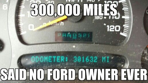Chevy pride, Ford sucks. Ive turned many Chevys over into 300K