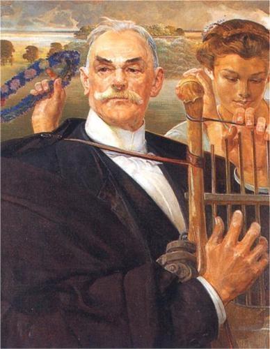 Portrait of Władysław Żeleński - Jacek Malczewski