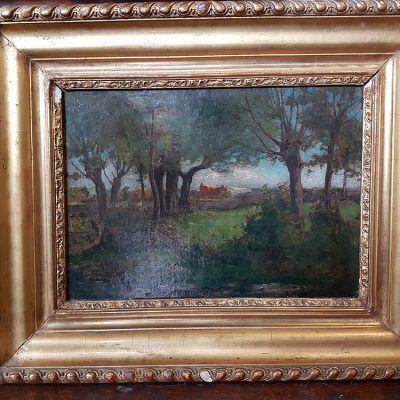 Dipinto olio su tela F. Lepagnez