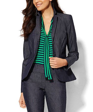 I  have my outfit  planned out. I just need to make sure I get the right size for the jacket. Loving this Grand Sapphire Parker Jacket on #zulily! #zulilyfinds