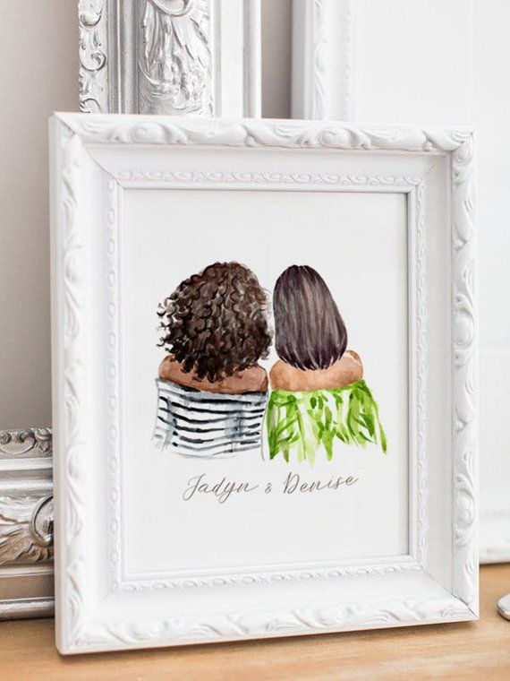 Personalized afro woman Best friend gift, Sister gift, Gifts for sister, Sisters…