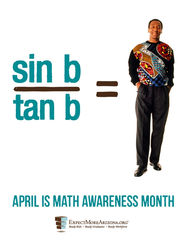 RE-PIN it if you get it!   Happy Math Awareness Month! Mathematics Awareness Month is observed every April, with the goal of increasing public understanding of and appreciation for mathematics.