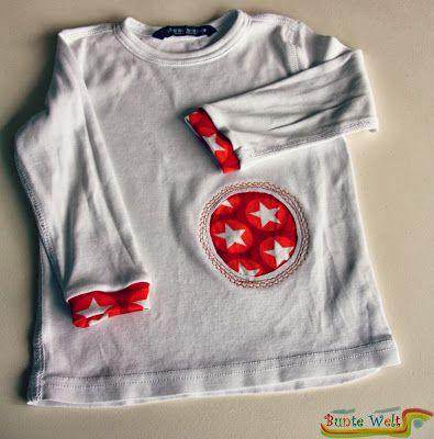 Fleckiges Shirt wieder tragbar gemacht / Stained shirt made more than wearable