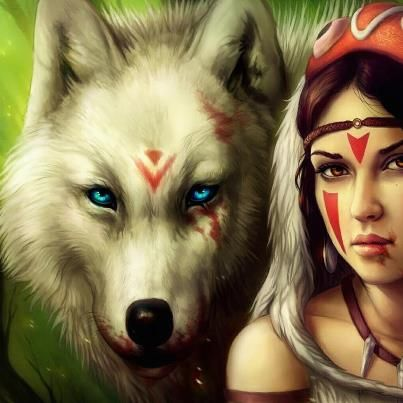Indian Princess and her wolf