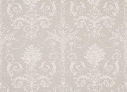 Josette Floral Linen Mix Fabric Dove Grey - Laura Ashley