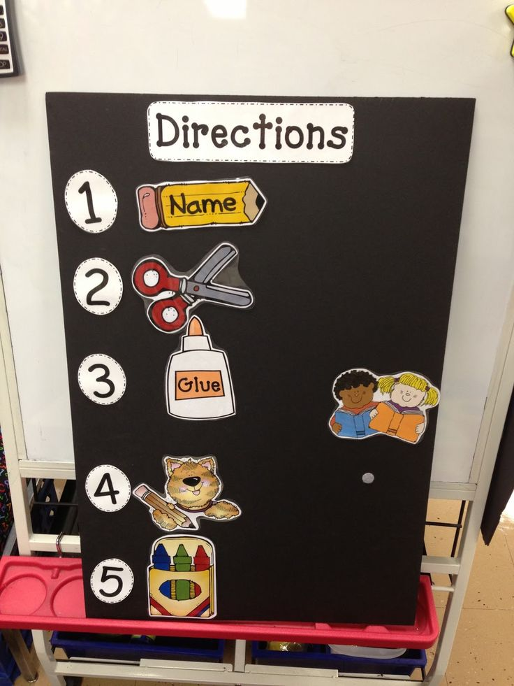 I love this idea for ESL students (and students who need more visual directions as well)!!