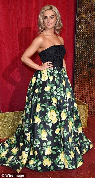 Floral stunner: Anna Passey stepped out in a statement print skirt at the British Soap Awa...