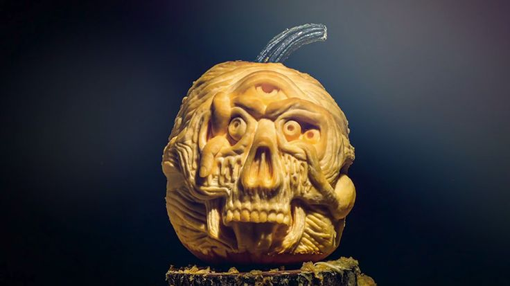 Creepy Pumpkin Carving Timelapse | Colossal