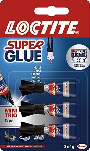LOCTITE Super Glue Mini Trio 3 X 1g Tube: Price:2.69LOCSGMT Super Glue Mini Trio 3 x 1 g Tube. Haute performance et puissance instantanée.…