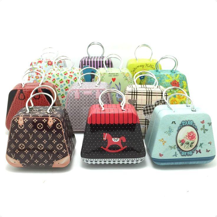 #Handbag_mini_storage #tin_box #small_candy_box #cute_iron_box #12_different_design