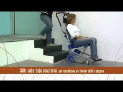 Silla Salva Escaleras Eléctrica - YouTube