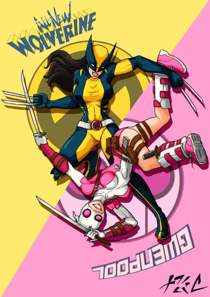 #Gwenpool #Fan #Art. (All new Marvel Fan Art) By: Chukhihiphop. ÅWESOMENESS!!!™ ÅÅÅ+