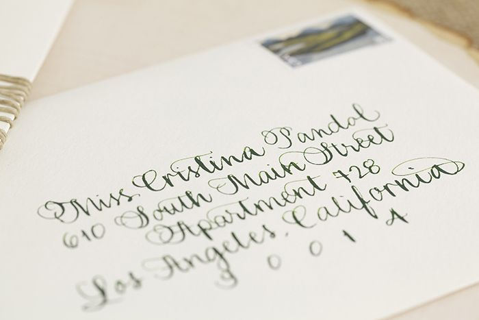Calligraphy on the envelopes