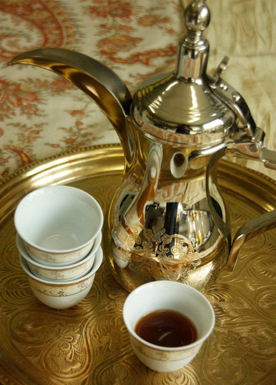 How to Prepare and Enjoy Arabic Coffee. I'll have to try this; I love cardamom!  #saffronroad
