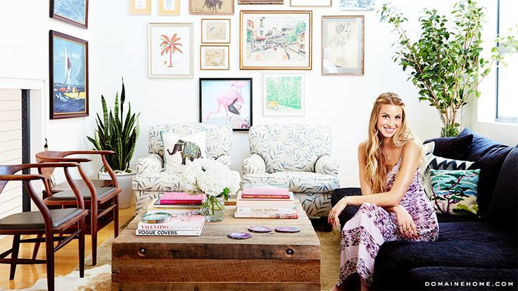 Home Tour: Whitney Port's Bohemian Venice Loft--love this layout and boho vibe