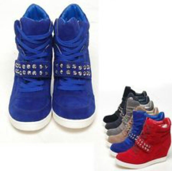 Wedge tennis shoes in different colors