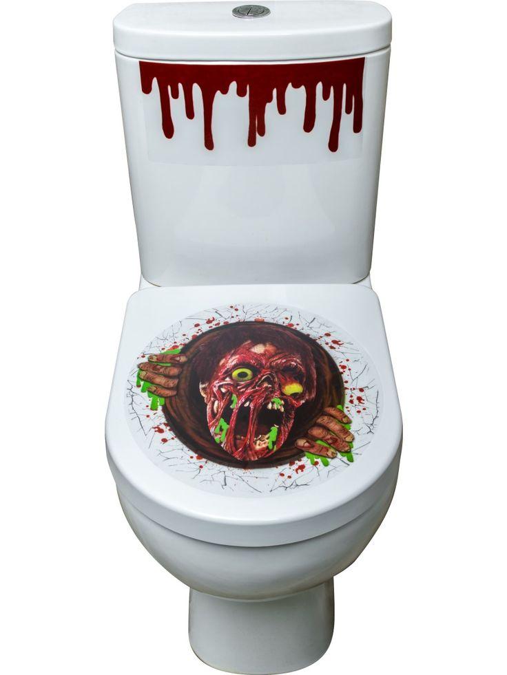 Zombie wc-pöntön koriste. Kaksi tarraa.