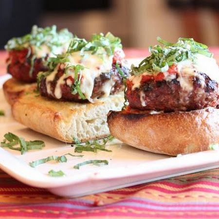Bite into these grilled #Italian #meatloaf #burgers