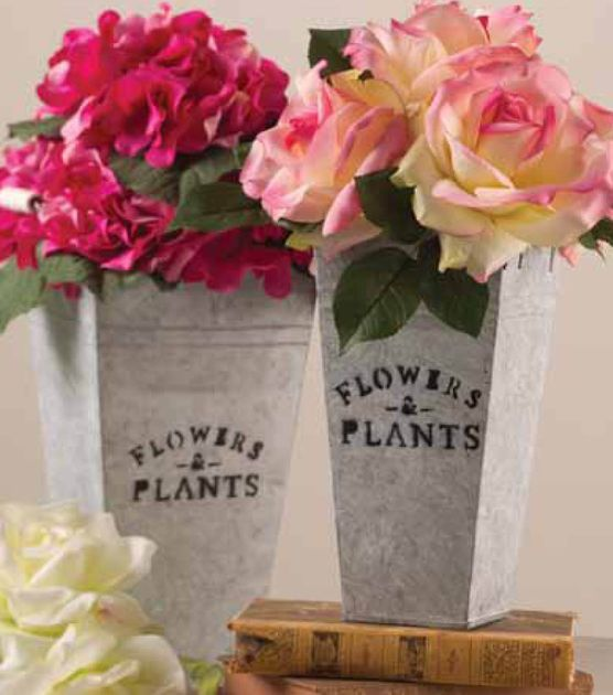 Create your own beautiful floral arrangement using peonies and a tin planter